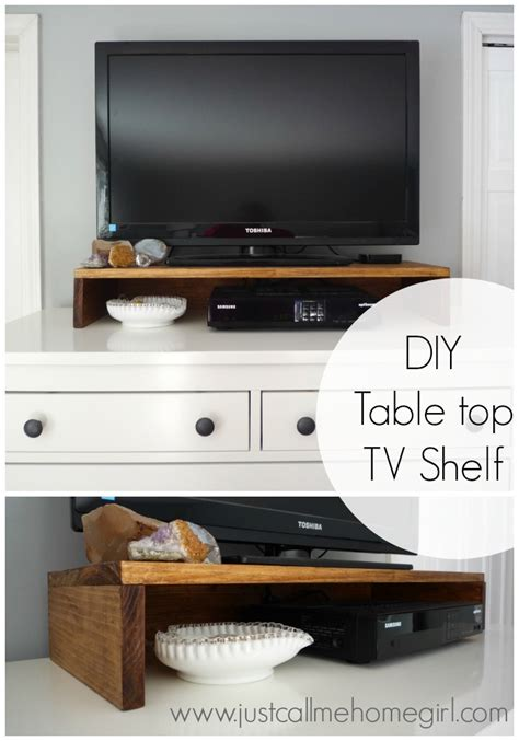 Table Top Tv Shelf diy tabletop tv stand just call me homegirl