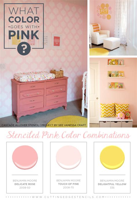 what colors go good with pink what color goes with pink stenciled pink color