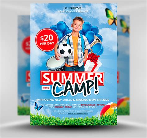 free summer c flyer template free summer soccer c flyer template