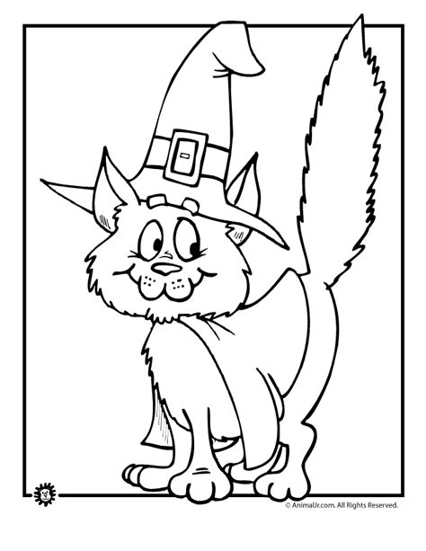 coloring pages of a black cat for halloween black cat coloring page coloring home