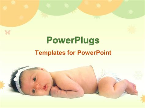Powerpoint Template A Lovely Cute Baby Laying On A White Surface With Balloons 2483 And Baby Powerpoint Template Free