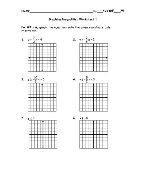 Graphing Linear Equations Worksheet Pdf by 8 Best Images Of Graphing Inequalities On A Number Line