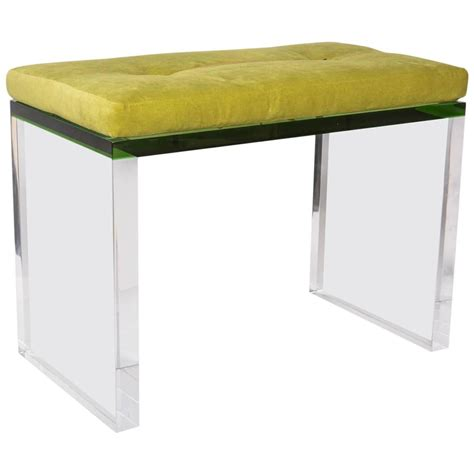 lucite bench for sale modern green and clear lucite bench for sale at 1stdibs