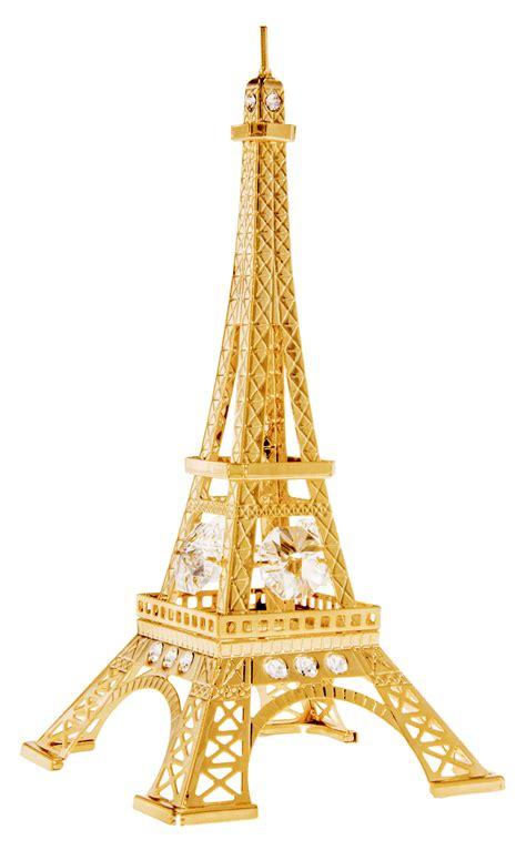 cut crystal eiffel tower xmas ornament eiffel tower gold ornament