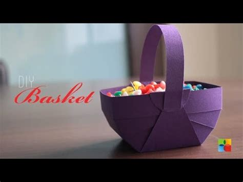 How To Make Easter Baskets Out Of Paper - diy how to make basket out of craft paper