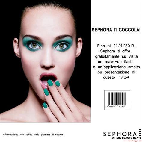 sephora ti regala un make up o applicazione smalto