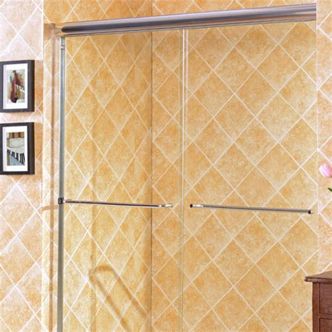 Majestic Shower Doors Majestic 10mm 3 8 Thick Clear Tempered Glass Traditional Shower Doors Enclosure Fits Wall
