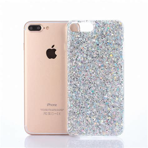 Glitter Skin Iphone 6 6s Silver glitter bling slim tpu gel silicone protective cover