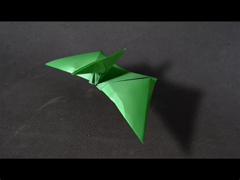 Origami Flying Dinosaur - how to make a paper dinosaur origami pterodactyl pter