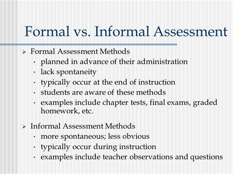 formal assessment chapter 1 assessment in elementary and secondary