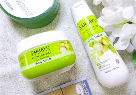 Scrub Sariayu sariayu putih langsat scrub dan lotion yukcoba in