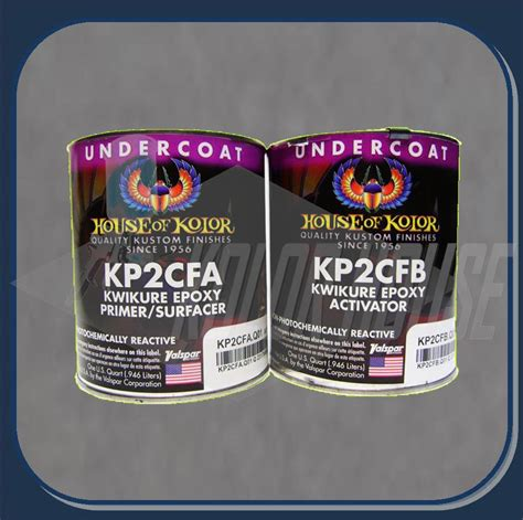 hoc kp2cfq house of kolor kwikure epoxy primer quart kit part a part b
