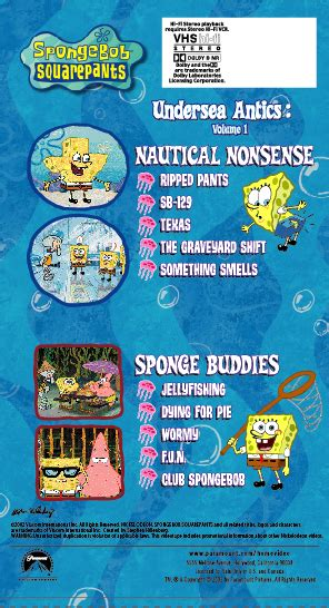 threadbare volume one stuff and nonsense volume 1 books undersea antics volume 1 encyclopedia spongebobia