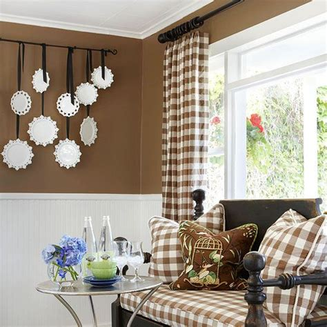 brown buffalo check curtains 28 weekend home decorating projects curtain rods the