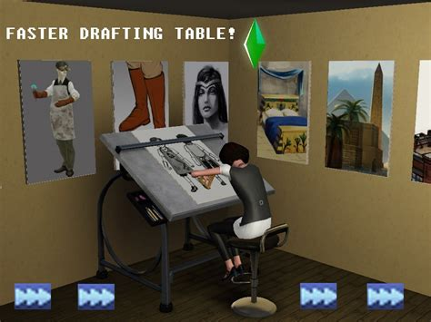 sketchbook mod mod the sims faster drafting table sketches paintings