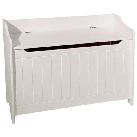 white wood storage bench catskill craftsmen wood storage bench in white 89095