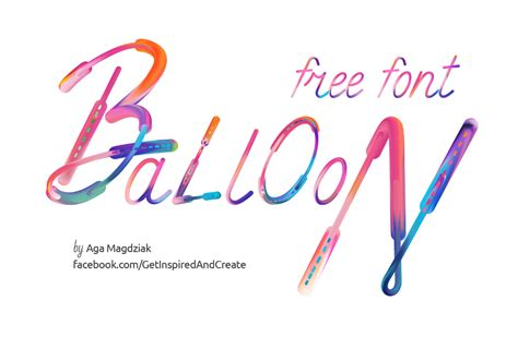 artistic font design online balloon free artistic typeface free design resources