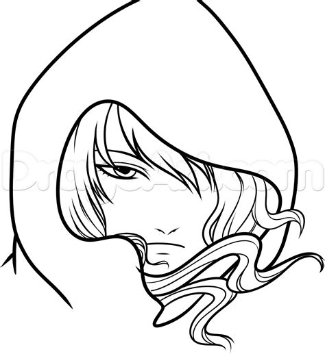 cool anime characters to draw how to draw a hooded anime character step by step anime