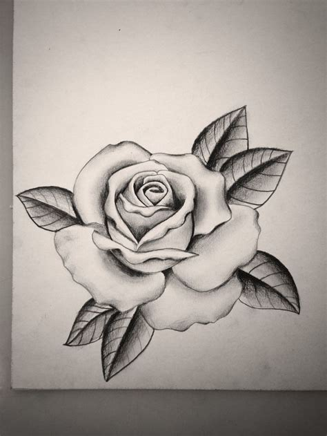 single rose tattoo design black and grey by mike attack instagram mikeattack