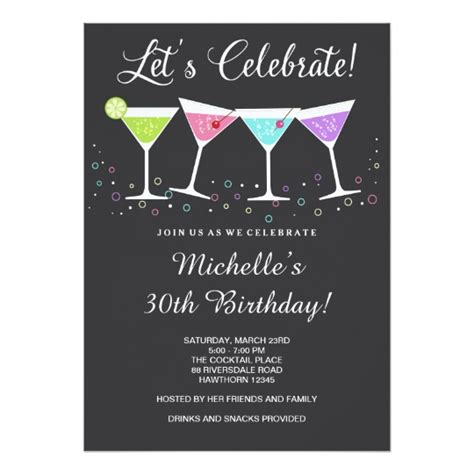 Birthday Invitation Cards For Adults Templates by 30th Birthday Invitation Birthday Invite Zazzle
