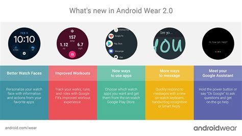 android wear features android wear 2 0 complete features list