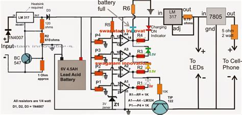 can i charge a 6v battery with a 12v charger 6v battery charger circuit with current protection