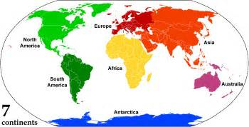 Map Of The World Continents by World Maps With Countries And Continents Images