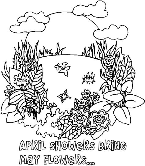 Spring Coloring Pages Coloring Pages To Print April Coloring Pages