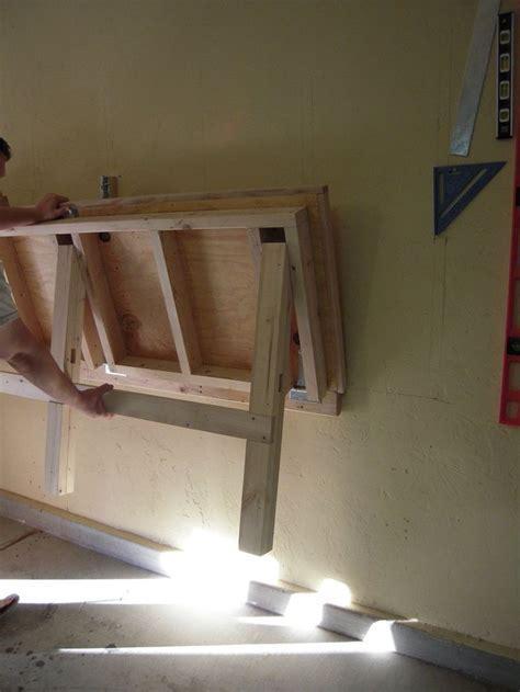 fold  work bench   garage work shop home ideas