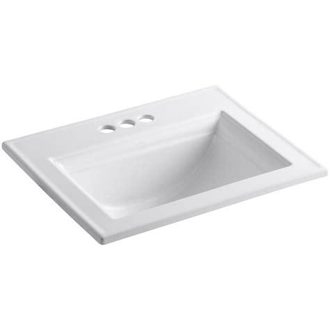 one bathroom sinks drop in self sinks bathroom sinks the home depot