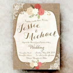Shabby Chic Wedding Invitation Templates by Rustic Wedding Invitation Lace Wedding Invitation