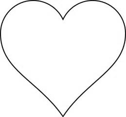 heart template printable clipart best