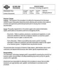 Iso 9001 Work Template by 9 Work Templates Free Sle Exle