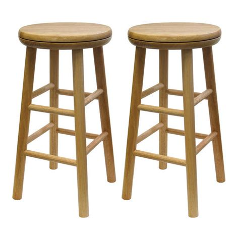 Winsome Bar Stools by Winsome Wood Swivel 24 Inch Bar Stool In Beechwood Ws Fs231908 Kitchensource