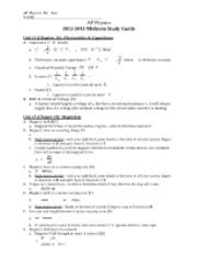physics capacitor study guide ap physics materials course