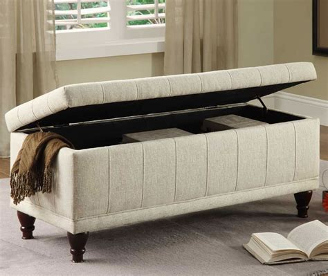 how to cover a storage ottoman with fabric 20 ottoman with storage ideas for your living room housely