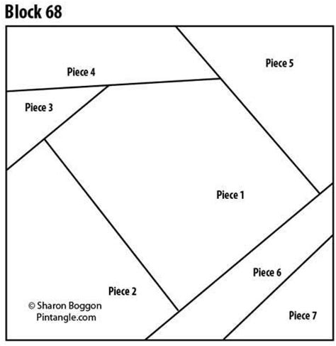 crazy quilt block 68 free pattern quilting pinterest