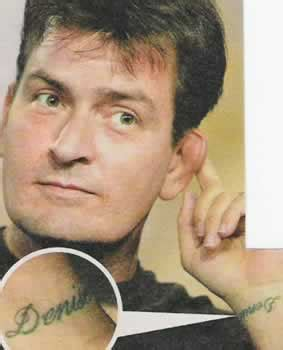 charlie sheen tattoos sheen tattoos fimho