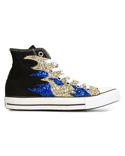 black sequin converse sneakers converse sequin sneakers in black lyst