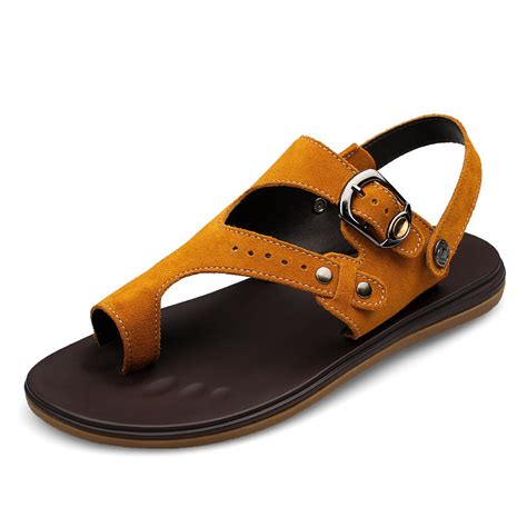 mens comfortable sandals men summer fashion genuine leather sandals walking casual