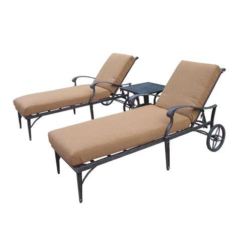 chaise lounge set oakland living belmont 3 piece patio chaise lounge set
