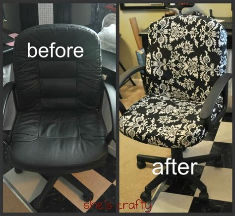 college desk chair cover diy recover your office chair how to diy home decor