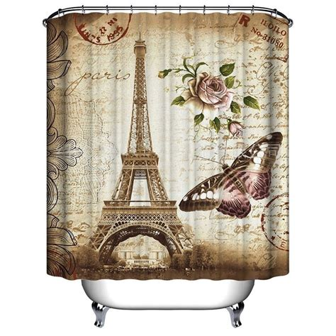 eiffel tower bathroom accessories new fashion paris eiffel tower butterfly and flower print