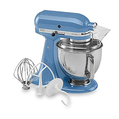 kitchenaid bed bath and beyond buy kitchenaid 174 artisan 174 5 qt stand mixer in cornflower