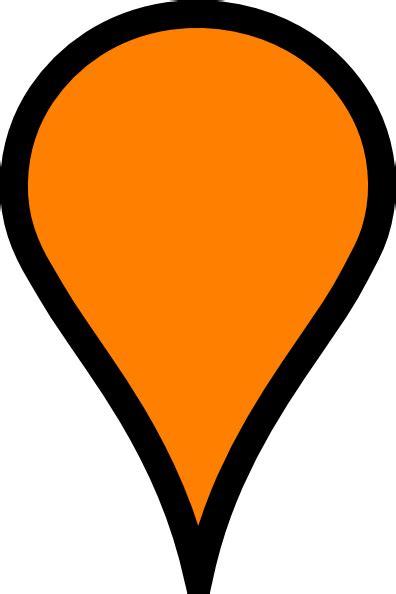 orange pinpoint clip art  clkercom vector clip art  royalty  public domain