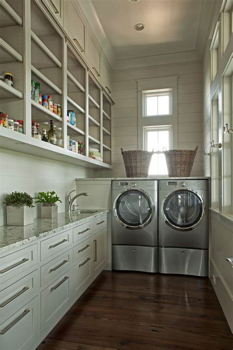 miami built  pantry shelves laundry room traditional
