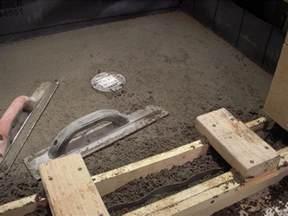shower pan concrete slab images