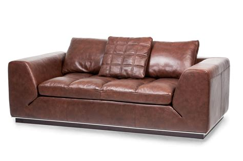 modern leather loveseat michael amini mia bella modern cordovan leather loveseat