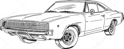 imagenes a blanco y negro de carros blanco y negro dibujo de un coche retro vector de stock