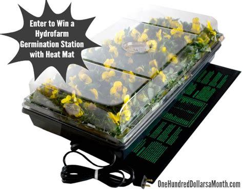 giveaway hydrofarm germination station w heat mat tray
